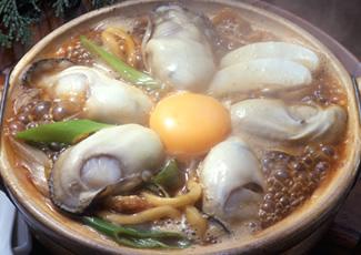 牡蠣入り味噌煮込うどん